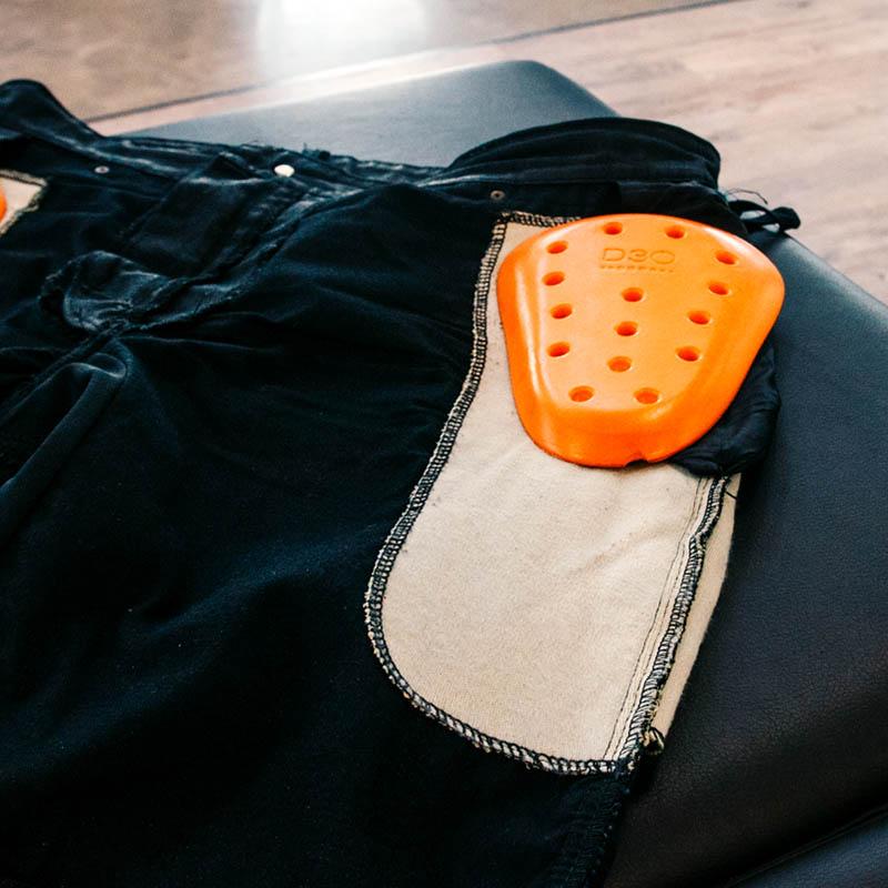 Aramid/D3O hip protection combo