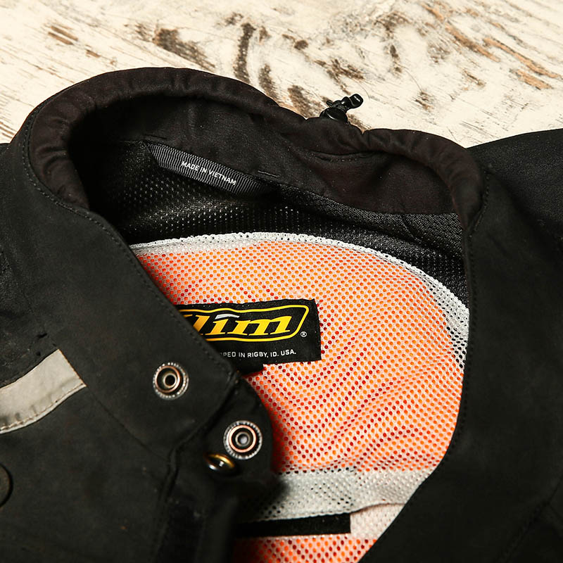 The soft D3O back protector is pliable, comes with the jacket and lives in a wide-gauge mesh pocket