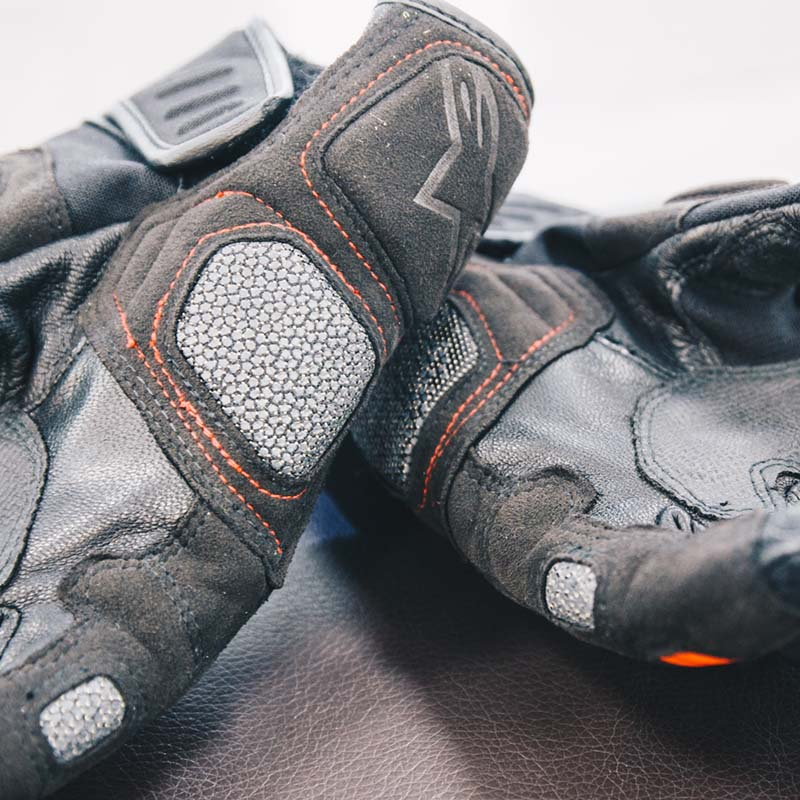 There's extra abrasion resistance on the heel and side of the palm