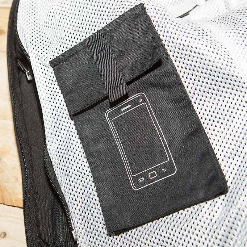 The phone pocket is big enough for modern smartphones
