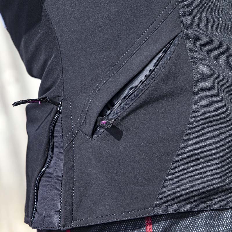 Fit adjusters at the hips come in useful - the location of the pockets, however, make them fiddly