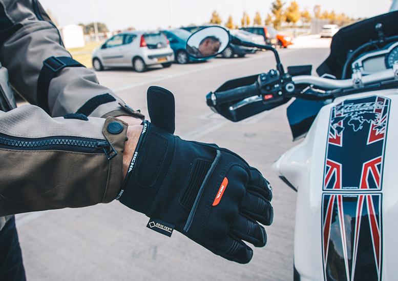 Richa City GTX Goretex Short Waterproof Motorbike Motorcycle Gloves Black