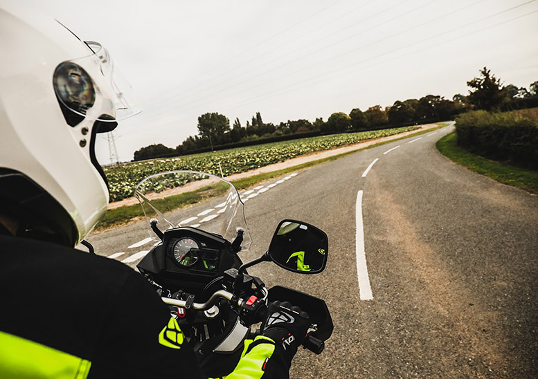 The screen kicks windblast over the visor, so it's easy to keep it up at lower speeds