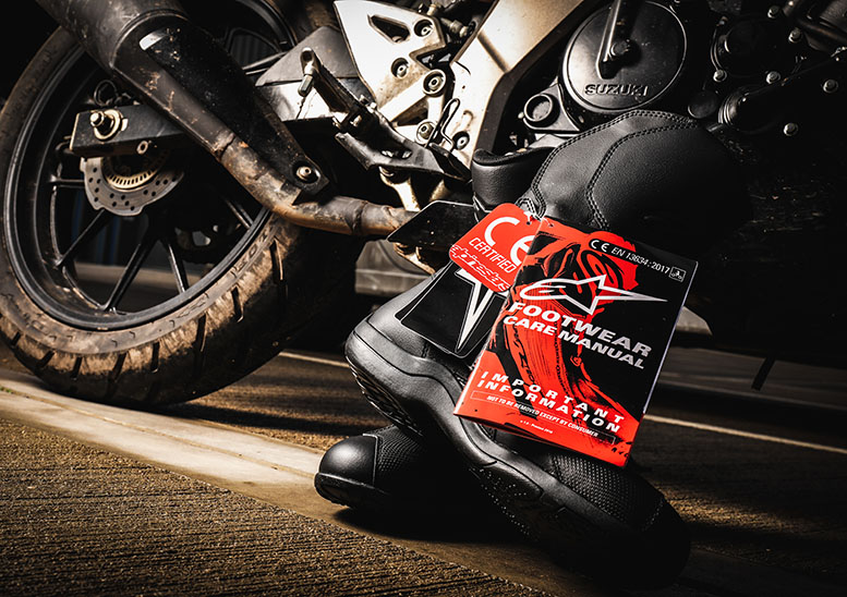 Motorcycle boot CE markings explained