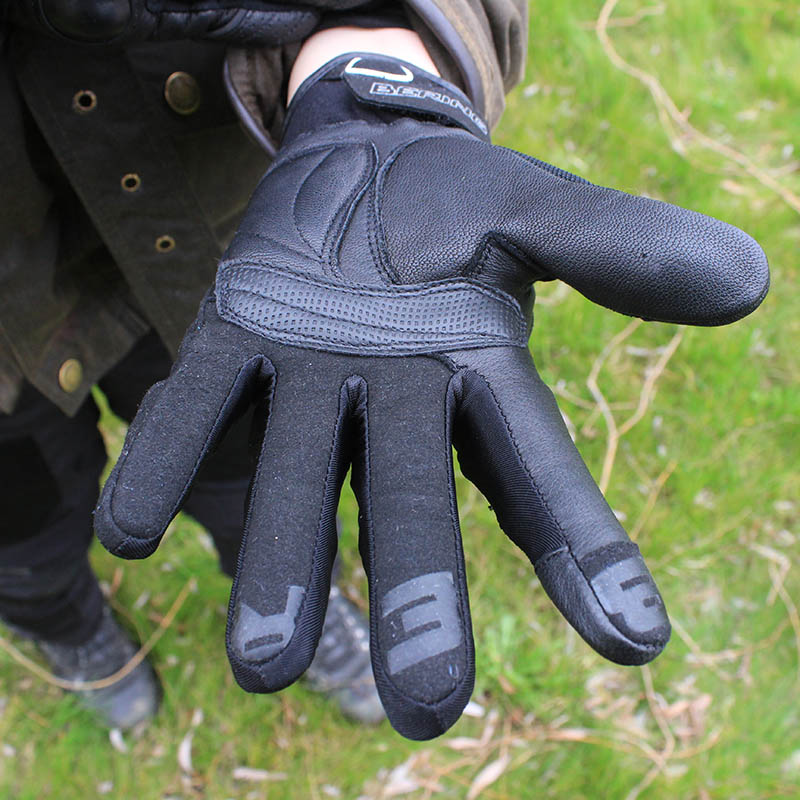 The glove's palm is a mix of goat leather and Amara artificial leather