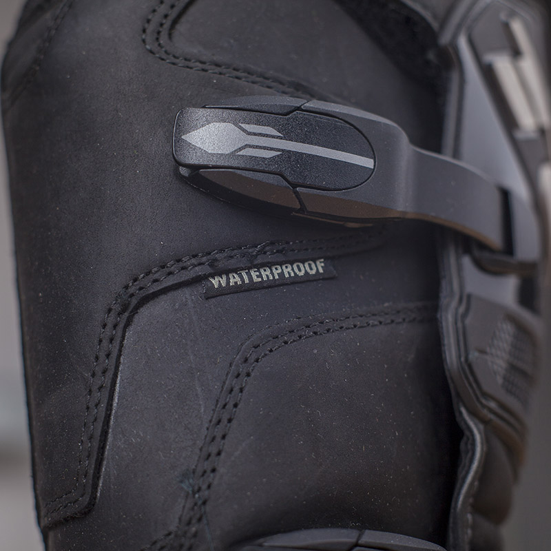Adjustable clasps down the outside of the boot let you easily adjust the fit