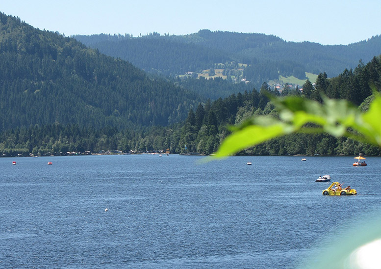 The biggest natural lake in the Black Forest, Lake Titisee offers water sports and gorgeous views