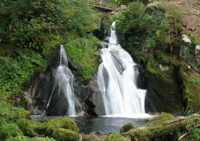 The waterfall in Triberg is one of the highest waterfalls in Germany, at a staggering 535 feet