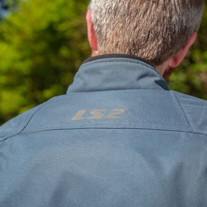 The LS2 branding is in light-reflective material for safety, which is neat thinking