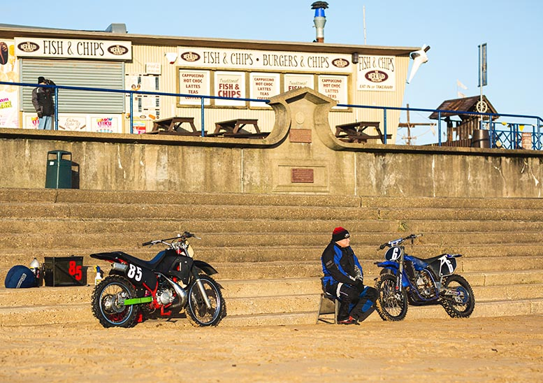 How to improve out-of-season beachfronts, part one: race motorbikes around on the sand