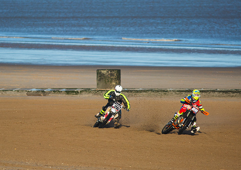 The most competitive action is often in the classes for motocross machinery