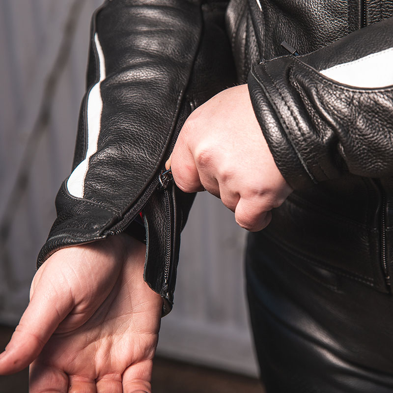 Snug cuffs fit comfortably inside gloves