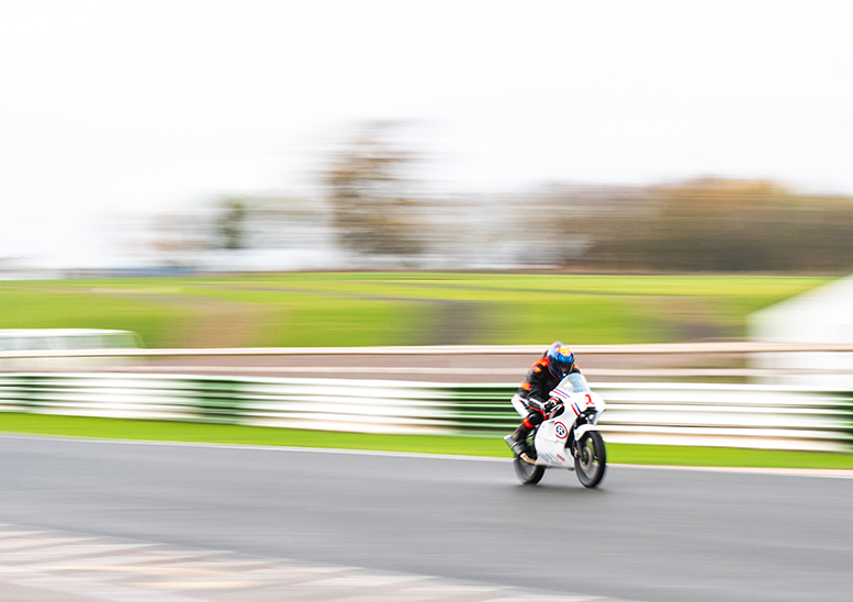 A rare shot of Glen enjoying some clear Mallory track