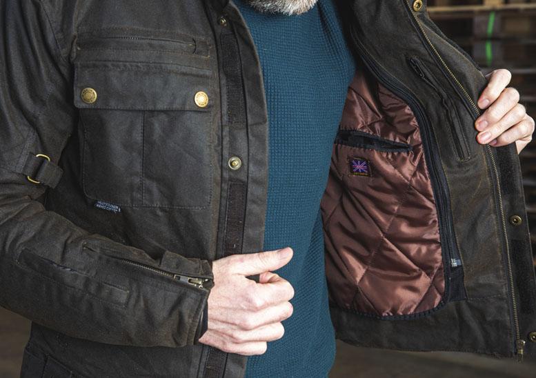 Merlin Barton 2 silk wax textile jacket
